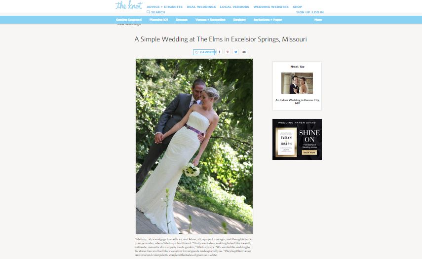 Real Weddings Featured on The Knot Kansas City!  {In The Press}