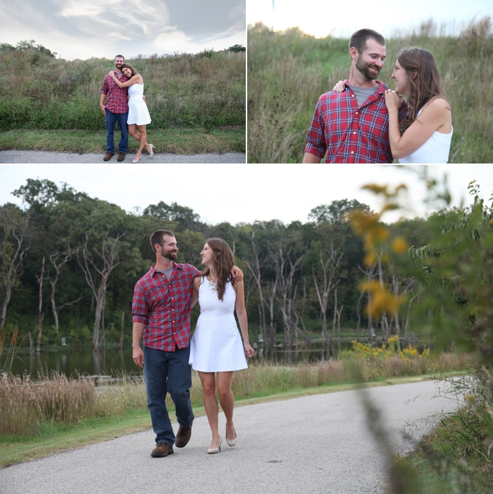 David & Kelsie's Lake Lenexa Engagement Session