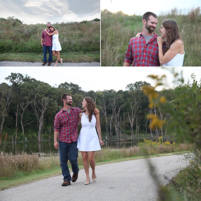 David & Kelsie's Lake Lenexa Engagement Session