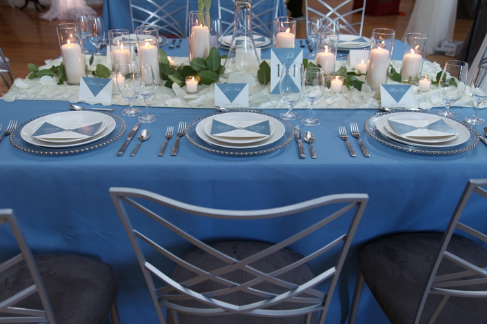Blue White Silver elegant wedding BP creative group pretty and planned sarah and ginger photographhy bella chic floral
