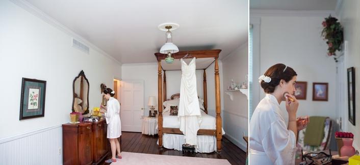 Bride getting ready, DIY make Up, Private Estate Wedding