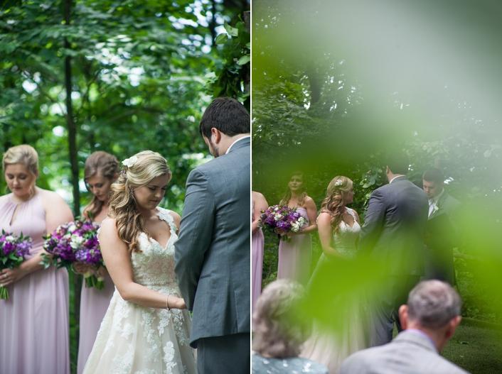 Outdoor Wedding Ceremony Schwinn Produce Farm Leavenworth KS Sarah and Ginger Photography Kansas City Wedding Photography