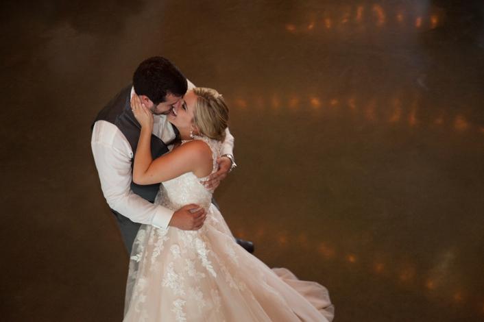 Perfect First Dance Photo Schwinn Produce Farm Romantic Sarah and Ginger Photography Kansas City Wedding Photography