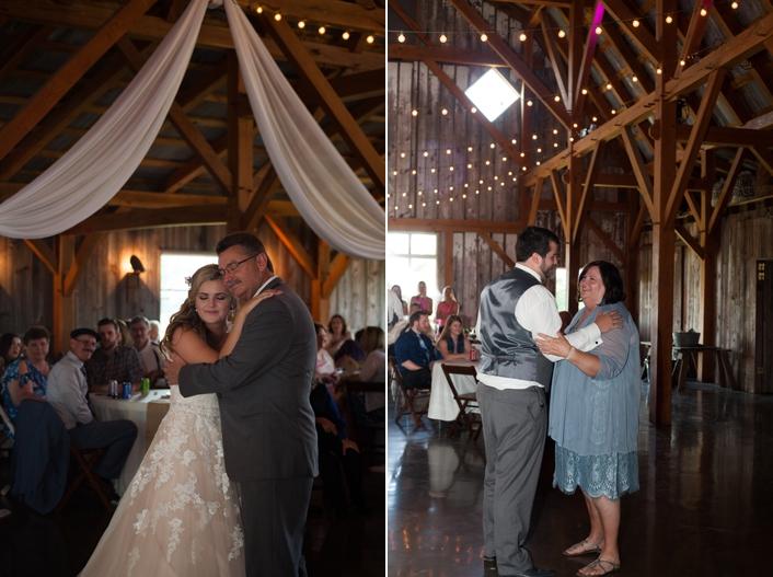 Father Daughter Mother Son Dances at Schwinn Produce Farm Leavenworth KS Sarah and Ginger Photography Kansas City Wedding Photography