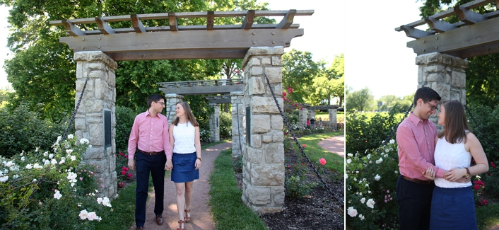 Kansas City Engagement Photography Loose Park Rose Garden Country Club Plaza