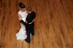Military bride and groom at The Montgomery Venue in Excelsior Springs, MO