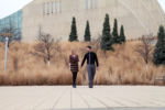 Kauffman Center for the Performing Arts Crossroads Kansas City Engagement Session Ivy Brick Wall Wedding Photographer