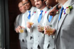Town Square Pavilion Paola KS Groomsmen Gift Style Kansas City Wedding Photographer Blue Navy