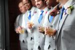 Town Square Pavilion Paola KS Groomsmen Gift Style Kansas City Wedding Photographer Blue Navy
