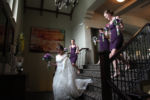 Lake Quivera Bridal Party Purple Wedding