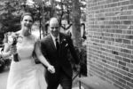 Classic Bride and Groom Exit Photo Black and White Westport Kansas City Photographer