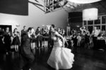 Classic Black and White Bride and Groom dancing photo Californos Westport Kansas City