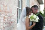 Kansas City Wedding Photographer Hawaiian Leis Bride and Groom
