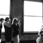 Kansas City Wedding Photographer Ginger Weseloh at town pavillion paola ks indoor brick