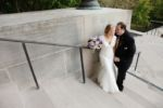 nelson atkins bridal session shorter bride taller groom photo by sarah and ginger photography